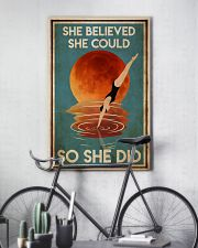 Swimming She Did 24x36 Poster lifestyle-poster-7