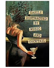 Music And Drinks Cocktail Vertical Poster tile
