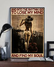 Female Guitar And Into The Rythm I Go 24x36 Poster lifestyle-poster-2