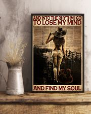 Female Guitar And Into The Rythm I Go 24x36 Poster lifestyle-poster-3