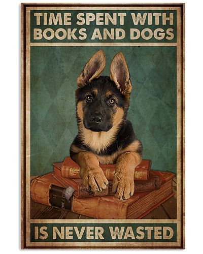 German Sherpherd Time Spent With Books And Dogs