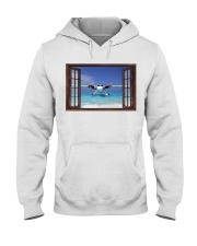 Seaplane Front Window  Hooded Sweatshirt tile