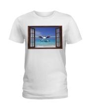 Seaplane Front Window  Ladies T-Shirt tile
