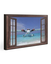Seaplane Front Window  Gallery Wrapped Canvas Prints tile