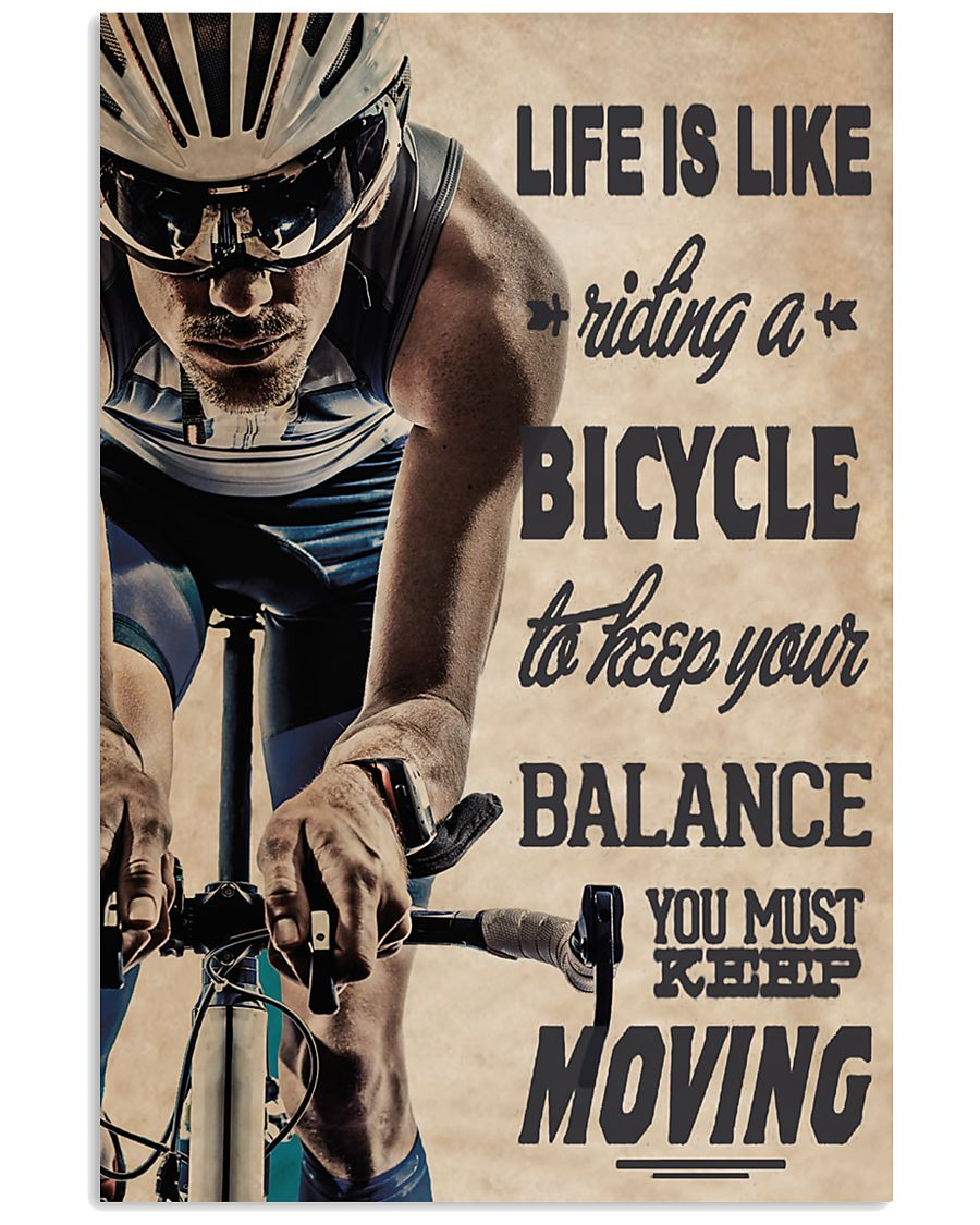 Cycling Life Quote 24x36 Poster