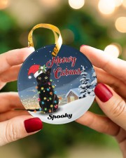 Meowy Catmas Circle ornament - single (porcelain) aos-circle-ornament-single-porcelain-lifestyles-08