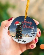 Meowy Catmas Circle ornament - single (porcelain) aos-circle-ornament-single-porcelain-lifestyles-09