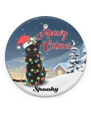 Meowy Catmas Circle ornament - single (porcelain) front