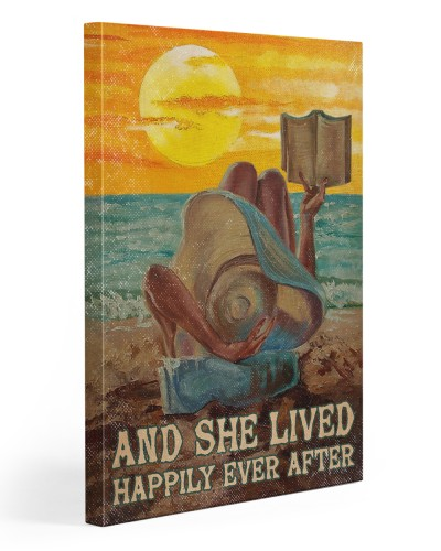Reading Girl In The Beach
