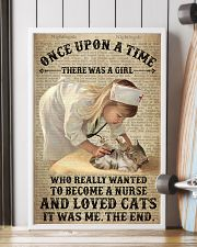 Girl Nurse Cat Dictionary 24x36 Poster lifestyle-poster-4