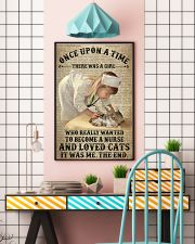 Girl Nurse Cat Dictionary 24x36 Poster lifestyle-poster-6
