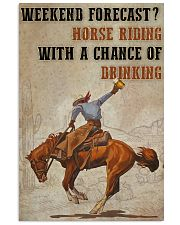 Horse Riding Weekend Forecast 24x36 Poster front