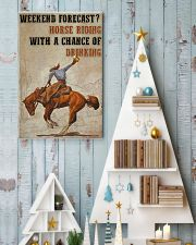 Horse Riding Weekend Forecast 24x36 Poster lifestyle-holiday-poster-2