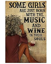 Afro Girl Distracted By Music And Wine 24x36 Poster front