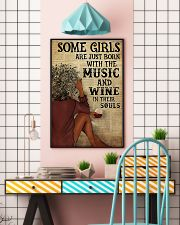 Afro Girl Distracted By Music And Wine 24x36 Poster lifestyle-poster-6