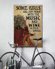Afro Girl Distracted By Music And Wine 24x36 Poster lifestyle-poster-7