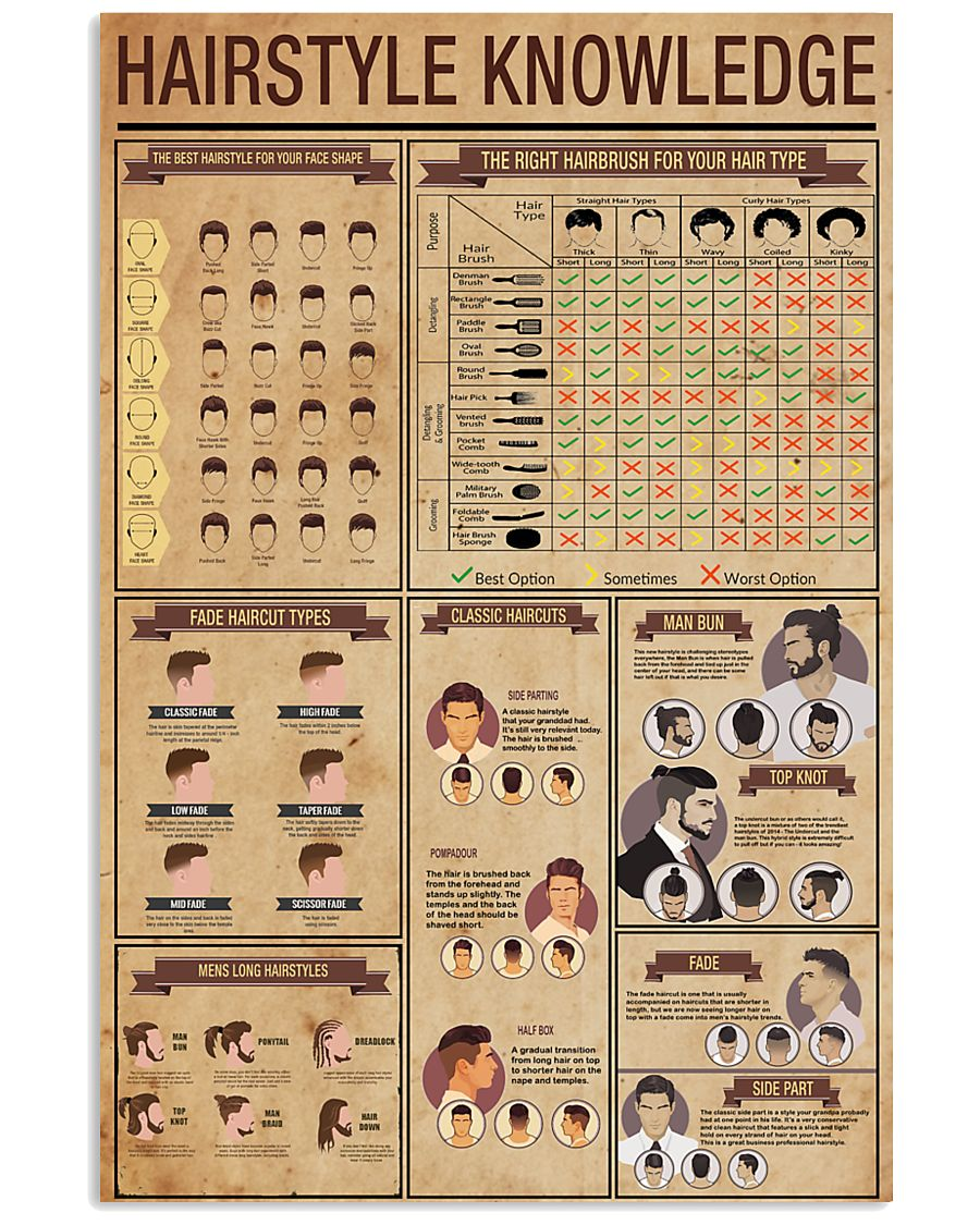 Hairstyle Knowledge 11x17 Poster