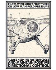 Pilot With Short Pitot Tubes 24x36 Poster front
