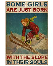 Girls Skiing The Slope In Their Souls 24x36 Poster front