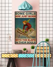 Girls Skiing The Slope In Their Souls 24x36 Poster lifestyle-poster-6
