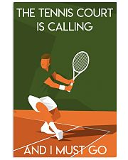 Tennis Court Calling  24x36 Poster front