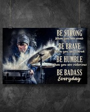 Drummer Be Strong 36x24 Poster aos-poster-landscape-36x24-lifestyle-11