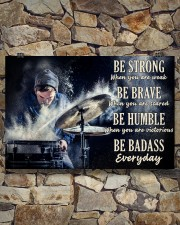 Drummer Be Strong 36x24 Poster aos-poster-landscape-36x24-lifestyle-15