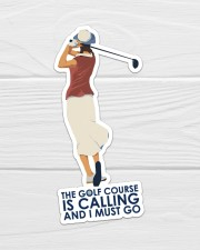 Girl Golf Course Is Calling Sticker - Single (Vertical) aos-sticker-single-vertical-lifestyle-front-01