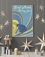 Surf More Worry Less 24x36 Poster lifestyle-holiday-poster-1