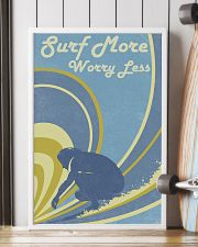 Surf More Worry Less 24x36 Poster lifestyle-poster-4