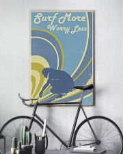 Surf More Worry Less 24x36 Poster lifestyle-poster-7