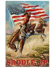 Cowboy Saddle Up American Flag 24x36 Poster front