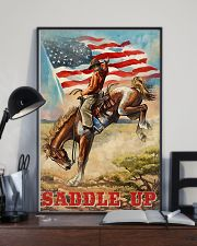 Cowboy Saddle Up American Flag 24x36 Poster lifestyle-poster-2