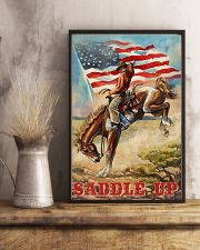 Cowboy Saddle Up American Flag 24x36 Poster lifestyle-poster-3