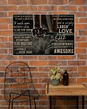 Barbell Today Is A Good Day 36x24 Poster poster-landscape-36x24-lifestyle-20