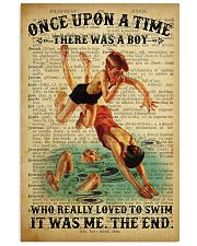 Boy Swimming Dictionary 24x36 Poster front