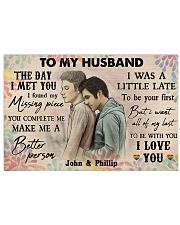 Gay Couple The Day I Met You 36x24 Poster front