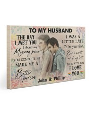 Gay Couple The Day I Met You 30x20 Gallery Wrapped Canvas Prints thumbnail