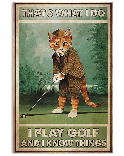 Cat Play Golf Know Things