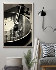 Record Player Home Black -  White  24x36 Poster lifestyle-poster-1