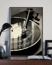 Record Player Home Black -  White  24x36 Poster lifestyle-poster-2