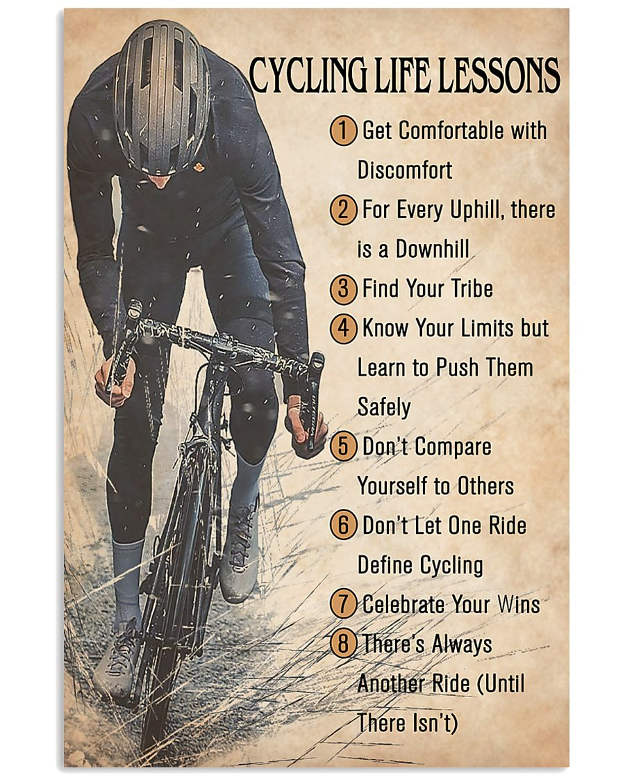 Cycling Life Lessons 24x36 Poster