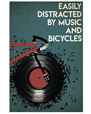 Easily Distracted By Music And Bicycle 24x36 Poster front