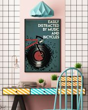 Easily Distracted By Music And Bicycle 24x36 Poster lifestyle-poster-6
