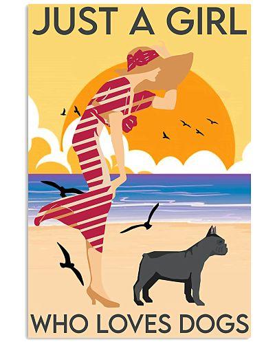 Girl And Dog On The Beach 2