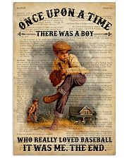 Boy Baseball Dictionary 24x36 Poster front