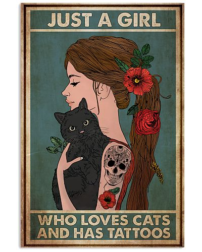 Tattoo Girl Loves Cats