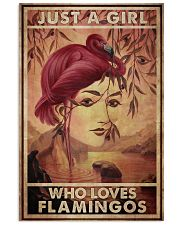 Just A Girl Loves Flamingo 24x36 Poster front