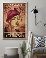 Just A Girl Loves Flamingo 24x36 Poster lifestyle-poster-1