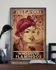Just A Girl Loves Flamingo 24x36 Poster lifestyle-poster-2